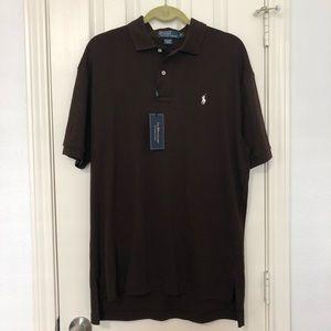 NWT! Polo by Ralph Lauren Brown Polo Shirt